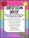 Bright Colors Classroom Decor