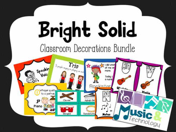 Bright Solids Classroom Decoration Bundle