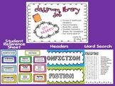 Bright Colors Classroom Library Set