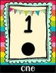 Bright Colors Classroom Number Cards
