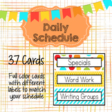 Bright Colors Daily Schedule Cards