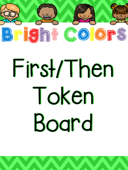 Bright Colors First/Then Token Board