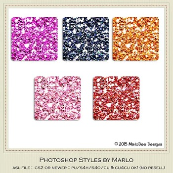 Bright Colors Glitter Photoshop Style