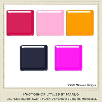 Bright Colors Gloss Photoshop Style