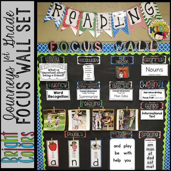 {BRIGHT COLORS} Journeys 1st Grade Focus Wall Set