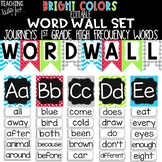 {BRIGHT COLORS} Journeys 1st Grade High Frequency Word Wall Set