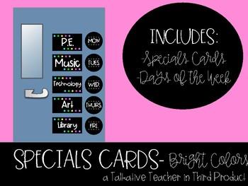 Bright Colors Specials Cards
