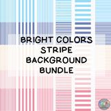 Bright Colors Stripe Background Bundle