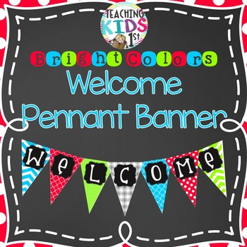 "{BRIGHT COLORS} ""WELCOME"" Pennant Banner"
