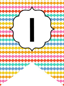 Bright Colors Welcome Bunting. Printable Classroom Accessories.