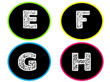 Bright Colors Word Wall