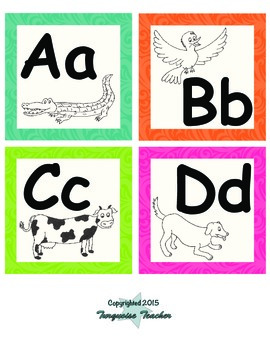 Bright Colors Word Wall Letters