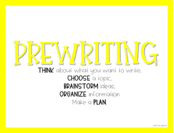 Writing Process Bulletin Board Posters Bright Lines Theme