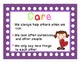Bright Colourful Character Education Values Posters