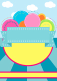 Bright Colourful Poster Display Template Background
