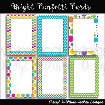Bright Confetti Cards