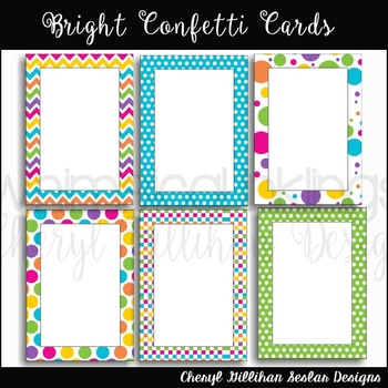 Bright Confetti Cards