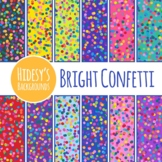 Bright Confetti Digital Papers / Backgrounds / Patterns Clip Art Commercial