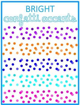 Bright Confetti Page Accents- Rainbow Colors