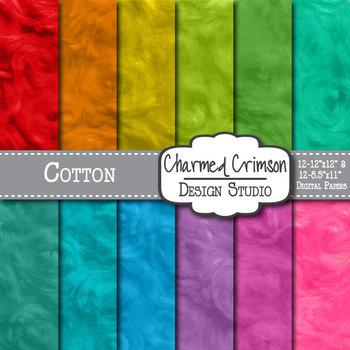 Bright Cotton Digital Paper 1373