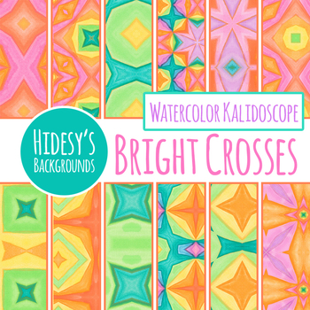 Bright Crosses Vibrant Digital Papers / Backgrounds Clip Art Commercial Use