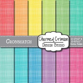 Bright Crosshatch Digital Paper 1163
