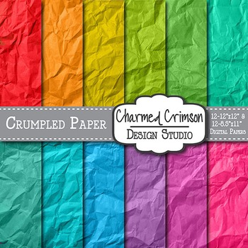 Bright Crumpled Digital Paper 1365