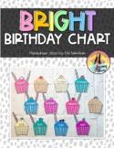 Bright Cupcake Birthday Display Editable