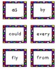 *Bright* Cute Multicolored Polka Dot 1st Grade Dolch Sight Word Flashcards