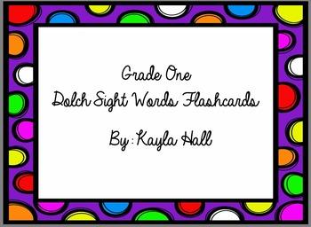 *Bright* Cute Multicolored Polka Dot 1st Grade Dolch Sight