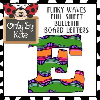 Funky Waves Bulletin Board Letters