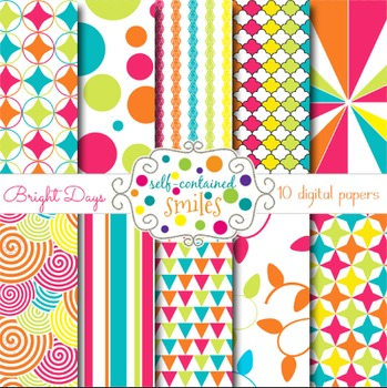 Bright Days Digital Papers