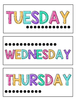 Bright Days Of The Week Labels