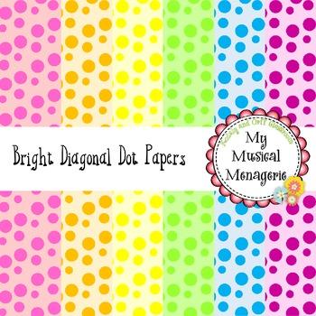Bright Diagonal Dots Digital Paper {FREEBIE}