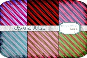 Bright Diagonal Jots & Tittles Patterned Digital Paper Pack