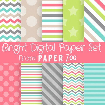 Bright Digital Paper Set