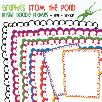 Bright Doodle Frames - Graphics From the POnd