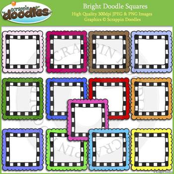 Bright Doodle Frames / Borders Bundle