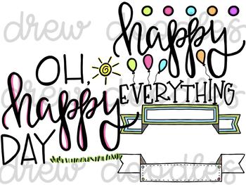 Bright Doodles Digital Clip Art Set