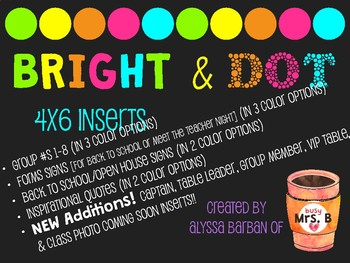 Bright & Dot 4x6 Inserts Editable