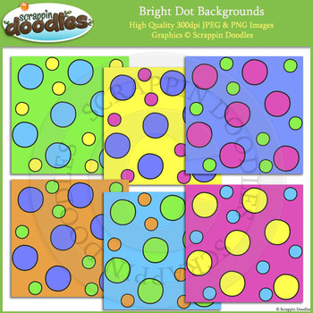Bright Dots Backgrounds FREEbie