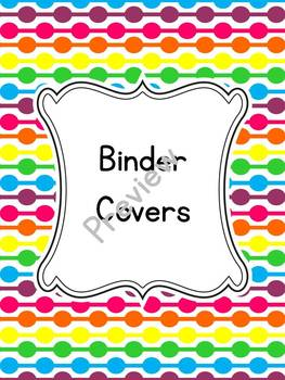 Bright Dots Binder Covers