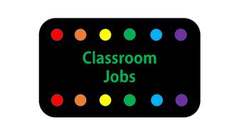 Bright Dots Editable Classroom Job Chart