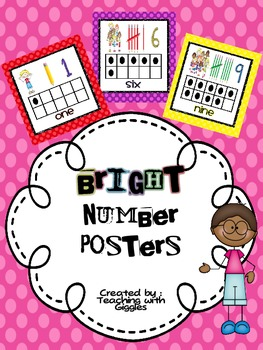 Bright Dots Number Posters 1-10