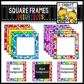 Bright Dots Square Frames