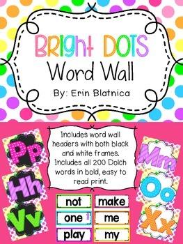 Bright Dots Word Wall