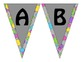 Bright Dots- Word Wall Alphabet Header Banner
