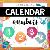 Bright & Dreamy Watercolor Numbers