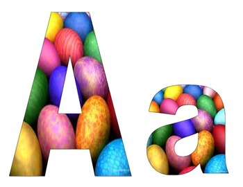 Bright Easter Egg Bulletin Board Letters