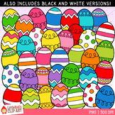 Bright Easter Eggs Clip Art